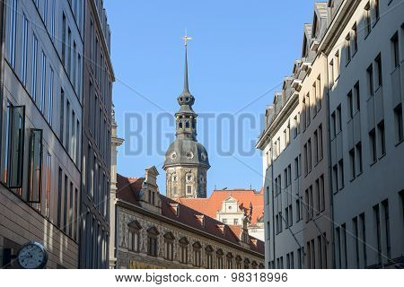Skyline Of Buildings In Dresden, Saxony, Germany.