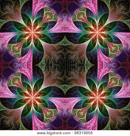 Beautiful Pattern In Fractal Design. Artwork For Creative Design