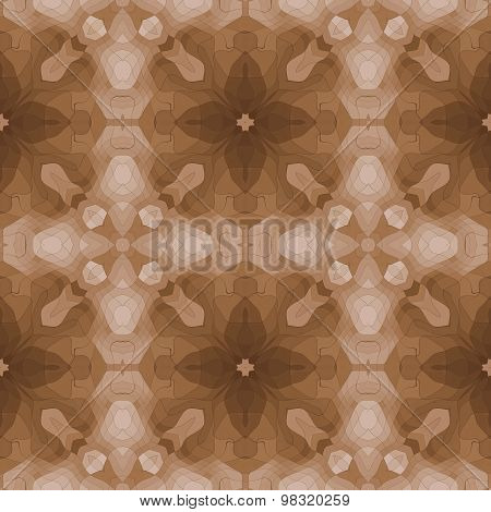 Seamless Kaleidoscopic Pattern In Brown