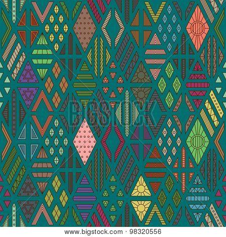 Rhombuses seamless pattern