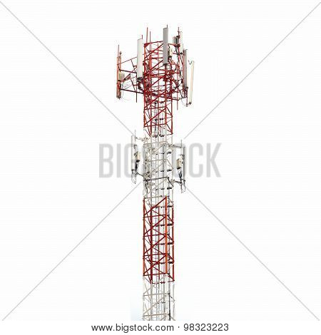 Telecommunication Tower Isolated On White