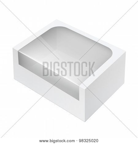 Realistic Package Box With A Transparent Window