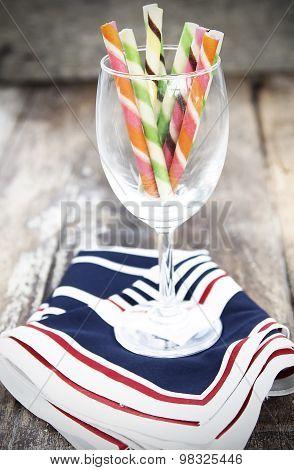 Wafer Stick In A Wine Glass