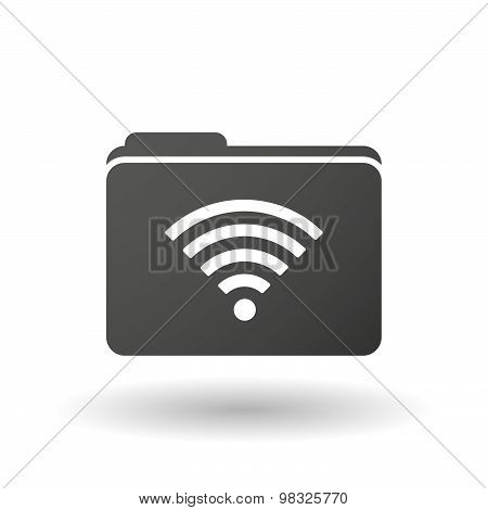 Isolated Folder Icon With A Radio Signal Sign