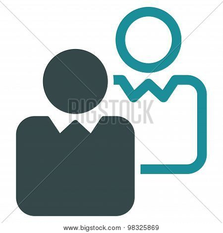Clients icon from Business Bicolor Set