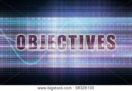 Objectives on a Tech Business Chart Art