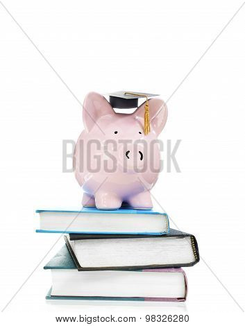 Books And Graduation Piggy Bank