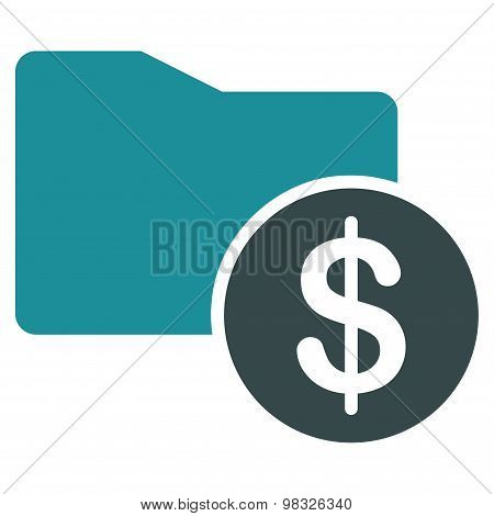 Money Folder icon from Business Bicolor Set