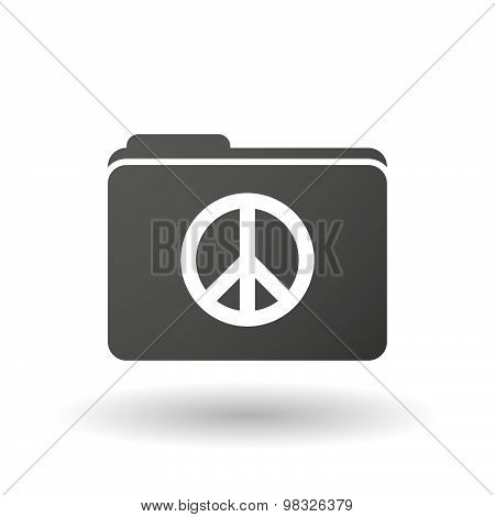 Isolated Folder Icon With A Peace Sign