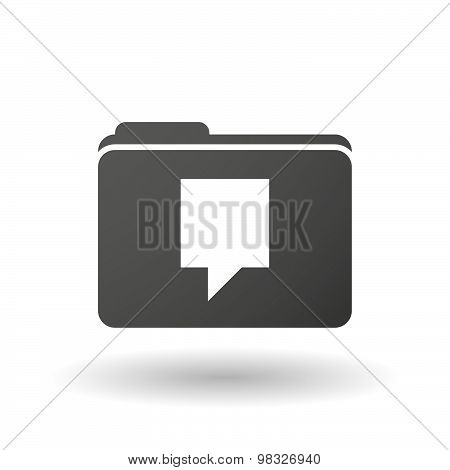 Isolated Folder Icon With A Tooltip