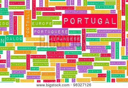 Portugal as a Country Abstract Art Concept
