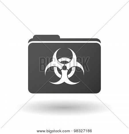 Isolated Folder Icon With A Biohazard Sign