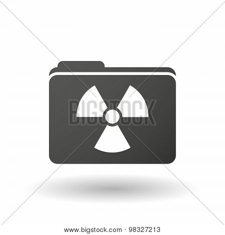 Isolated Folder Icon With A Radio Activity Sign