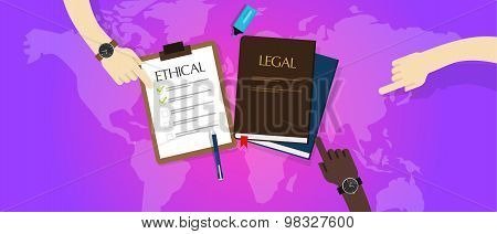 law legal vs ethical ethics