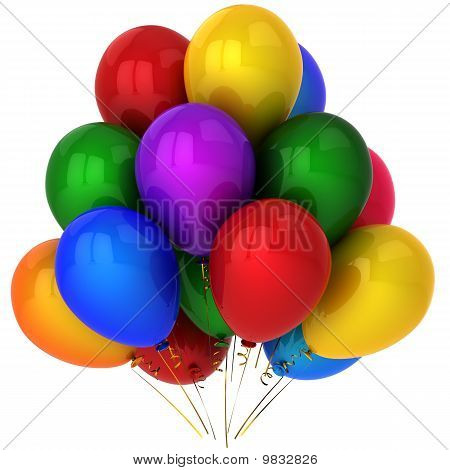 Colorful helium balloons (Hi-Res)