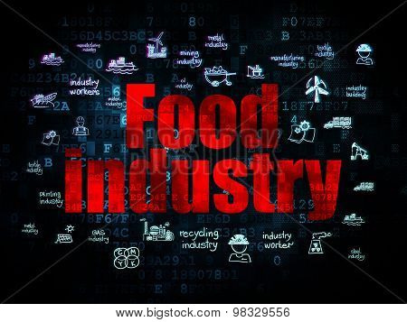 Manufacuring concept: Food Industry on Digital background