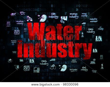 Industry concept: Water Industry on Digital background