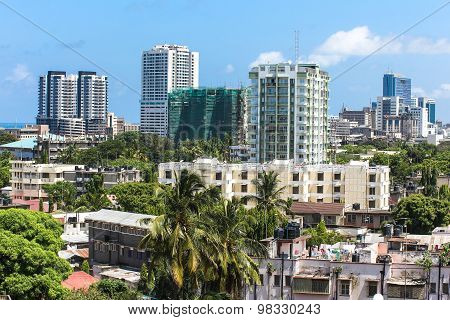 New Modern Buildings In Dar-es-salaam, Africa