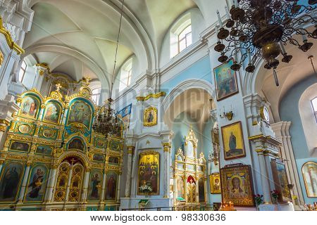Interior Of Cathedral Of Holy Spirit In Minsk - The Main Orthodo