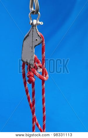 Nautical Knot And Tackle Of A Yacht