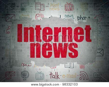 News concept: Internet News on Digital Paper background