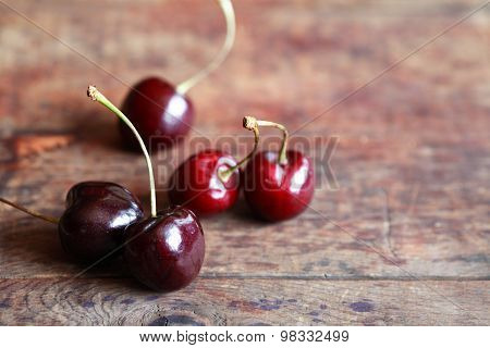 Cherries On Wood