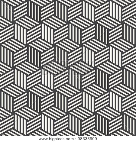 stripe cube pattern