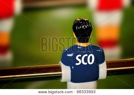 Scotland National Jersey On Vintage Foosball, Table Soccer Game