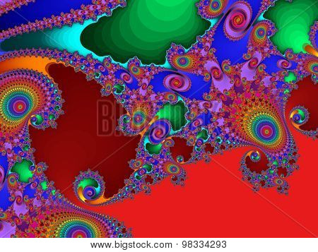 Fabulous Colorful Abstract Background. Artwork For Creative Design, Art And Entertainment.