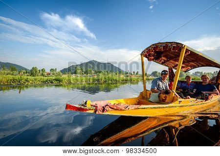 Shikara Boat In Dal Lake At Srinagar, India