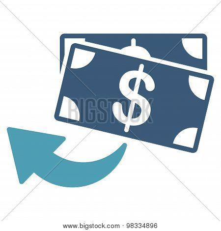 Cashback icon from Business Bicolor Set