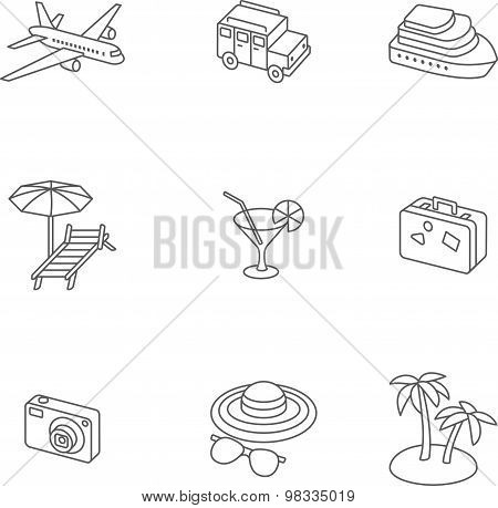 Perfect Isometric Travel Icons