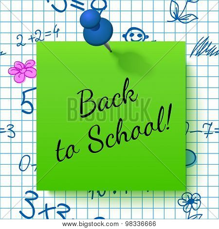Paper Note With Lettering Back To School