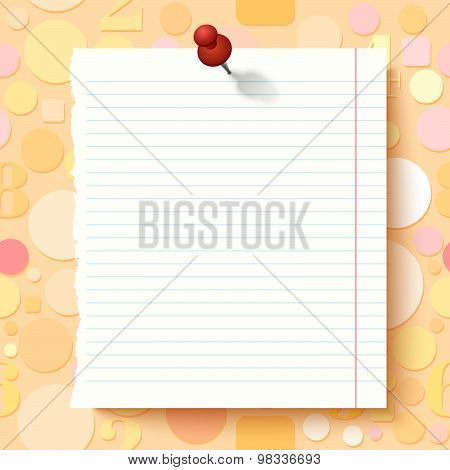 Empty Exercise Book Paper Sheet On Light Background