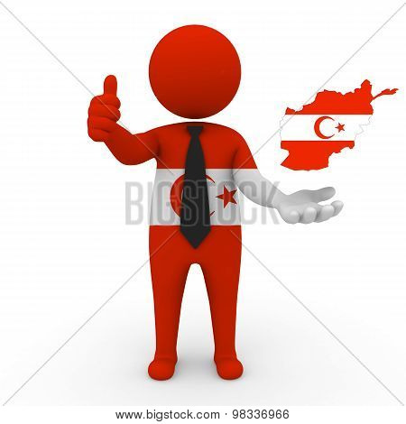 3d people Khorasani Turks -Map flag of Afghanistan-Khorasani Turks.Khorasani Turks in Afghanistan