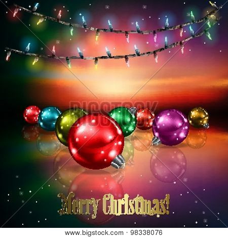 Abstract Background With Christmas Tree