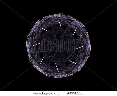 Abstract shape mesh spheres. Futuristic technology style
