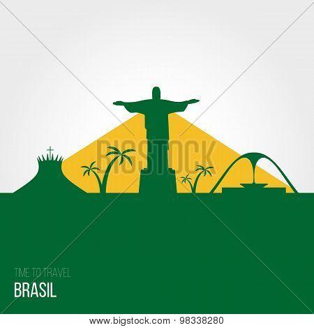 Creative Design Inspiration Or Ideas For Brasil.