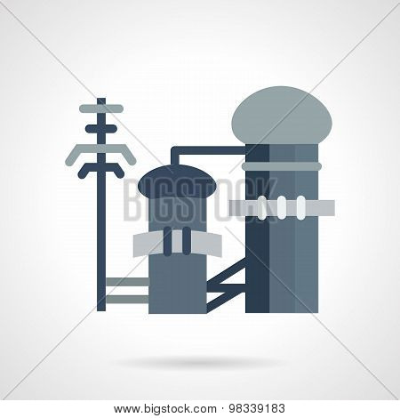 Waste treatment flat vector icon