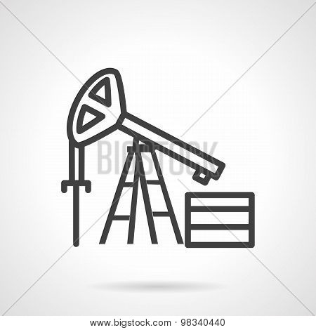 Oil derrick simple line vector icon