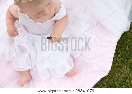 session for children - a girl in a tent