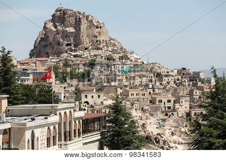 GOREME, CAPPADOCIA, TURKEY - JUNE 16, 2014: Love valley in Goreme national park. Cappadocia Turkey