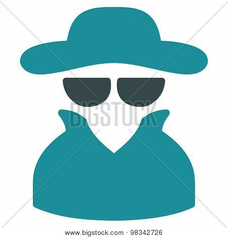 Spy icon from Business Bicolor Set
