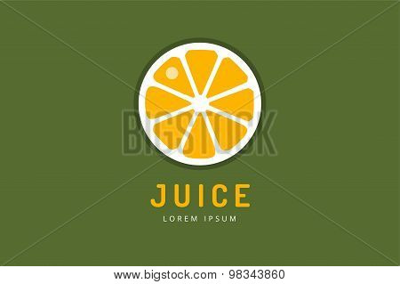 Lime or lemon fruit drink logo icon template design. Fresh, juice, drink, yellow, splash, vegetarian
