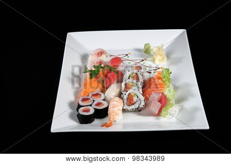 Sushi And Sashimi With Wasabi
