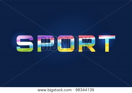 Sport vector logo text. Leader, winner, football, flag or another game and sport symbol. Stock desig