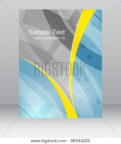 Abstract flyer or cover design template, brochure, folder for business presentation