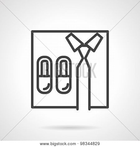 Work at home line vector icon