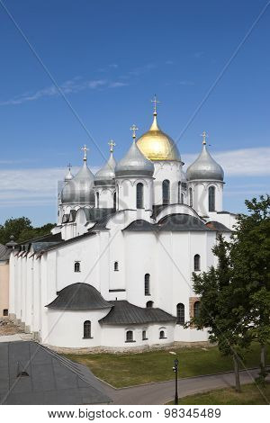 Saint Sophia cathedral in Kremlin Great Novgorod Russia