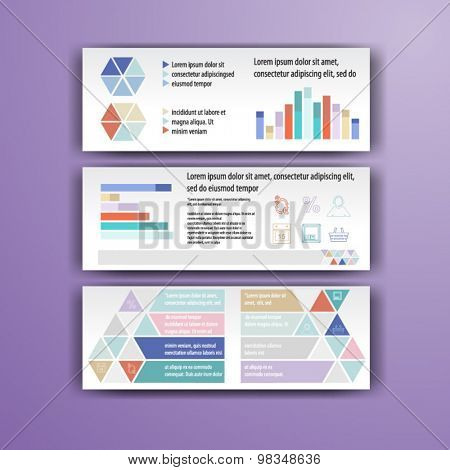 Geometry  brochure template design with circles. Cover layout and infographics